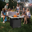 "30"" Square Propane Gas Fire Pit Table Ceramic Tabletop"