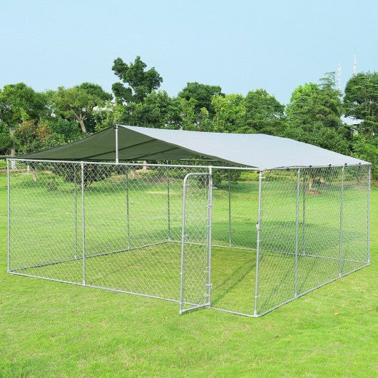 15' x 15' Large Pet Dog Run House Kennel Shade Cage-Dog kennel