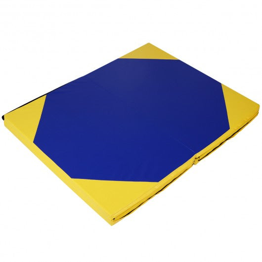 "4' x 10' x 2"" Hexagonal Splicing Thick Folding Panel Gymnastics Mat"