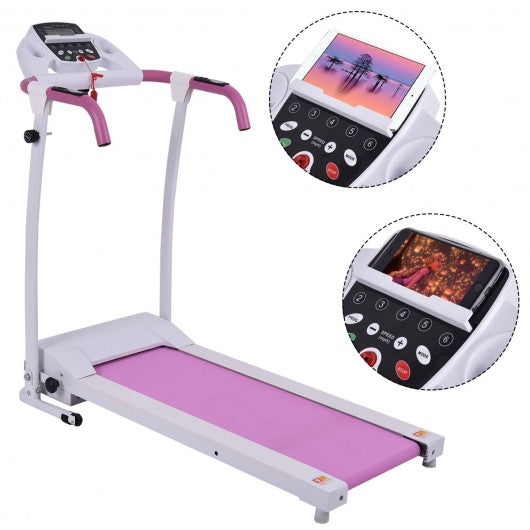 800 W Folding Fitness Treadmill Running Machine-Pink