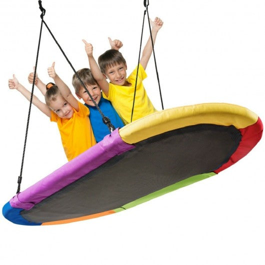 "60"" Saucer Surf Outdoor Adjustable Swing Set-Colorful"