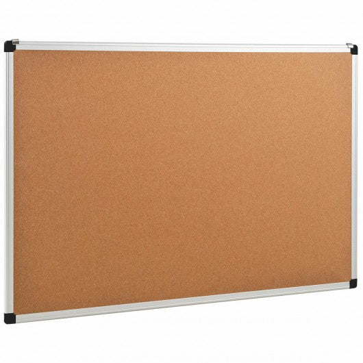 "24"" x 36"" Aluminum Framed Cork Board Bulletin Board with 12 Pins-1 Pack"