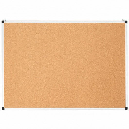 "44"" x 32"" Cork Notice Pin Board  with Aluminum Frame-2 Pack"