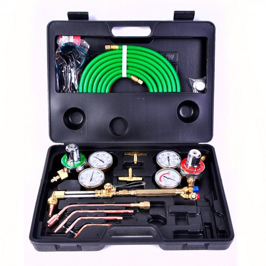 Gas Welding Cutting Kit Oxy Acetylene Oxygen Torch Brazing Fits VICTOR W-Hose