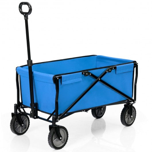 Collapsible Outdoor Utility Wagon Folding Garden Tool Cart