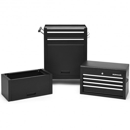 6-Drawer Tool Chest w- Heightening Cabinet-Black