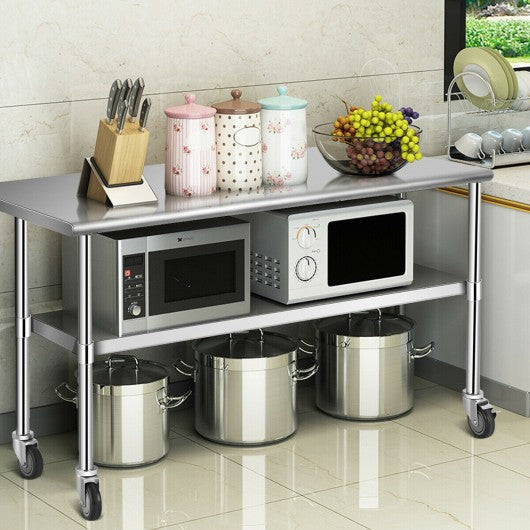 NSF Stainless Steel Commercial Kitchen Prep & Work Table