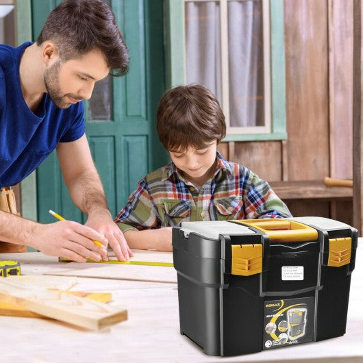 Rolling Toolbox Stackable Cabinet Storage Chest Organizer with Handle
