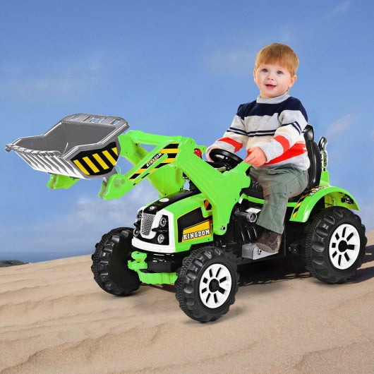 12 V Battery Powered Kids Ride on Dumper Truck-Green