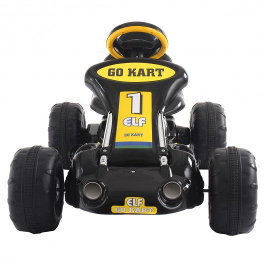Go Kart Kids Ride On Car Pedal Powered Car 4 Wheel Racer Toy Stealth Outdoor-Black