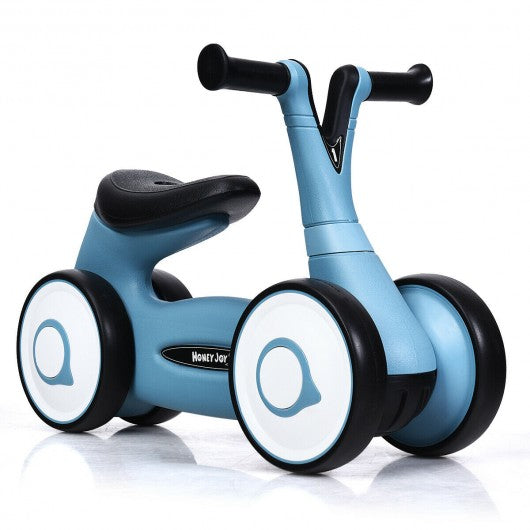 Baby Balance Bike Bicycle Toddler Toys Rides No-Pedal-Blue