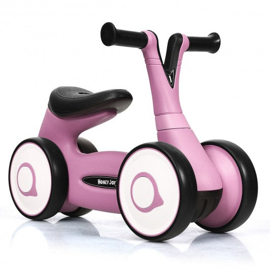Baby Balance Bike Bicycle Toddler Toys Rides No-Pedal-Pink