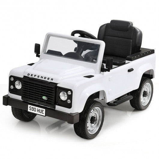 Landrover Defender Licensed Pedal Powered Car-White