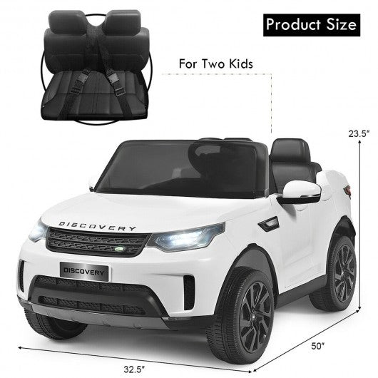 12V Licensed 2-Seater Land Rover Kid Ride On Car -White