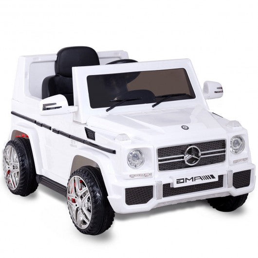Mercedes Benz G65 Licensed Remote Control Kids Riding Car-White