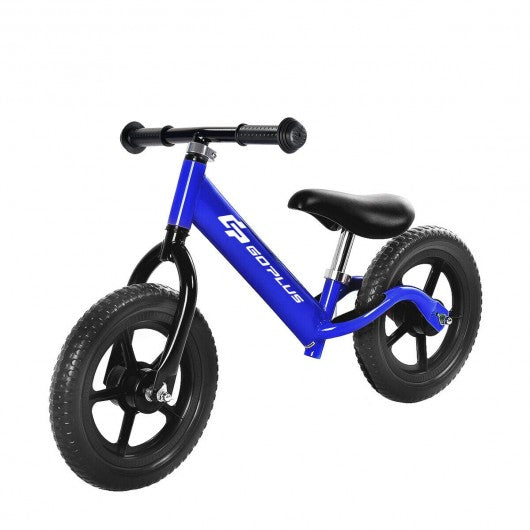 "Black-Pink-Blue 12"" Balance Kids No-Pedal Learning Bicycle -Blue"