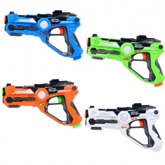 Indoor Outdoor Set of 4 Infrared Laser Tag Guns-Guns