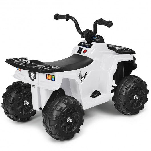 6V Battery Powered Kids Electric Ride on ATV-White