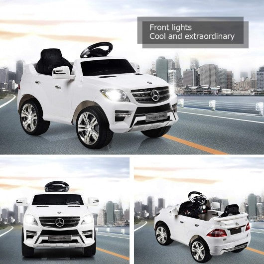 6V Mercedes Benz Kids Ride on Car with MP3+RC-White