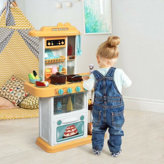 Kitchen Playset with Realistic Lights & Sounds-Yellow