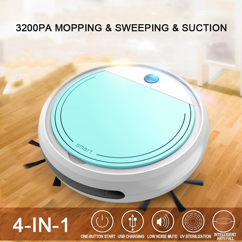 Rechargeable 4 in 1 Smart Vacuum Cleaners Robot