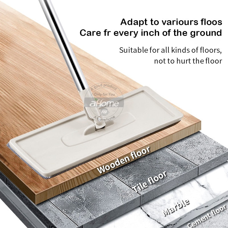 4 in 1 Multi-functional Hands-free Mop -  Magic Quickly Cleaning Mops