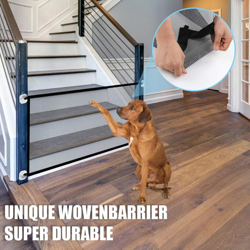 Pet Barrier Fences Portable Folding Breathable Mesh Dog Gate Pet Separation Guard Isolated Fence Dogs Baby Safety Fence