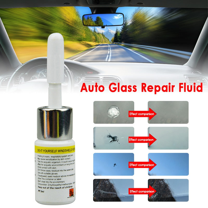 Automotive Glass Nano Repair Fluid -Car Window Glass Crack Chip Repair Tool DIY Car Window Repair Tools Car Accessories TSLM1