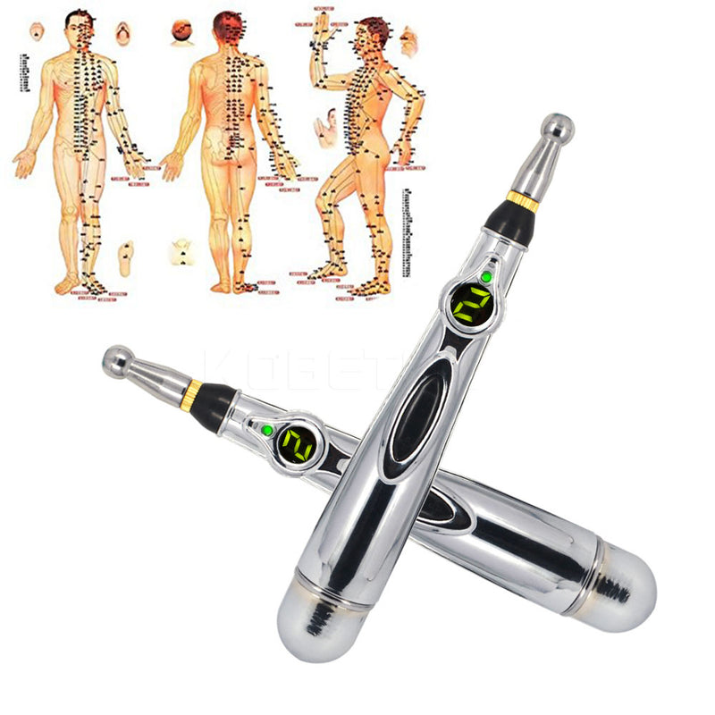 Electric Meridian energy pen Acupuncture Point Massage Pen Relief Pain Tools Meridian Laser Energy Therapy Magnet