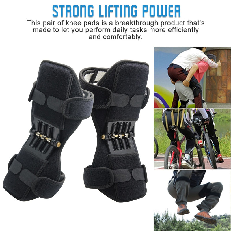 Joint Support Knee Pads Breathable Non-slip Lift Knee Pads Powerful Rebound Spring Force Knee Booster