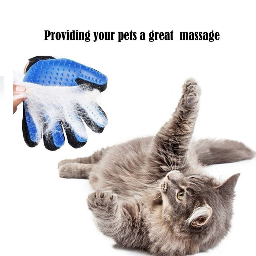Pet Grooming Deshedding Brush Glove (for Cats/Dogs)