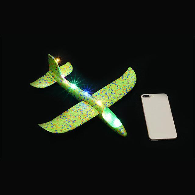 Luminous Hand Launch Flying Foam Airplane