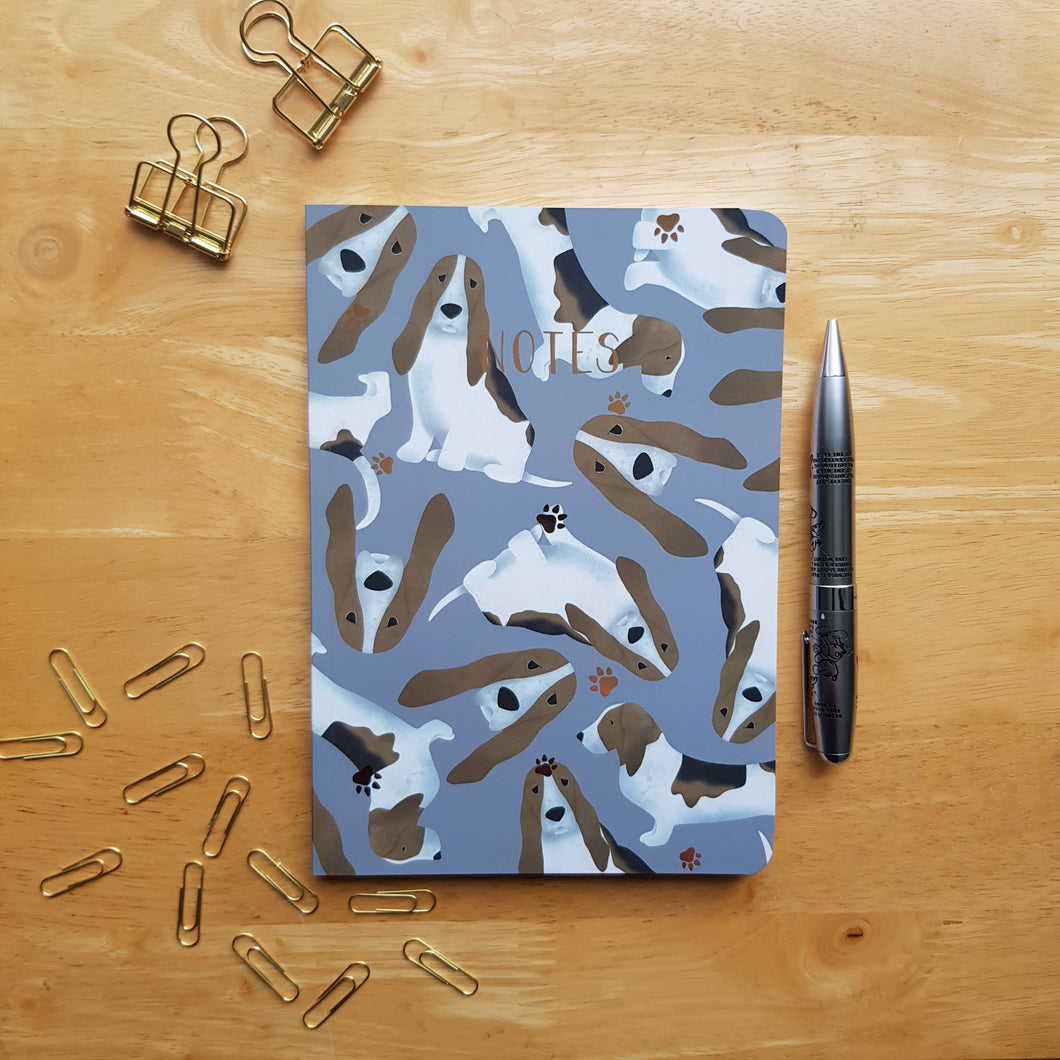 Basset Hound Foiled Notebook