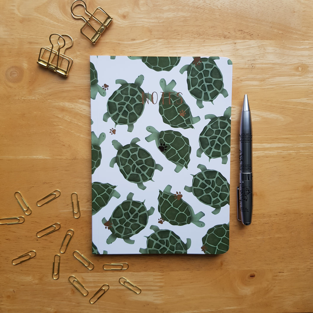 Tortoise Foiled Notebook