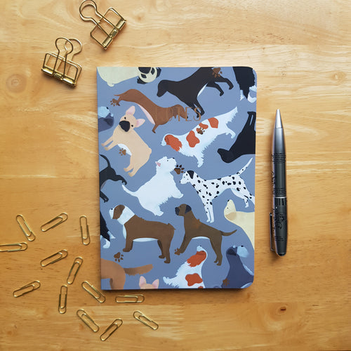 Mixed dog foiled notebook