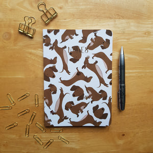 Dachshund Foiled Notebook
