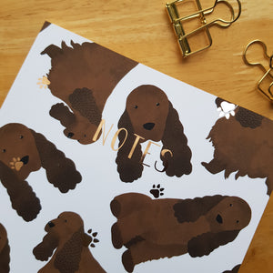 Cocker Spaniel Foiled Notebook