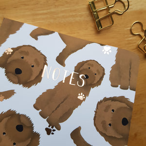 Labradoodle Foiled Notebook