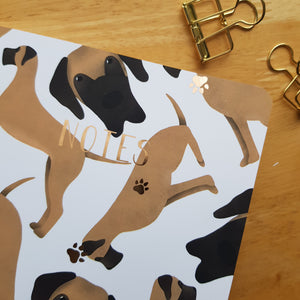 Great Dane Foiled Notebook