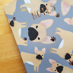 French Bulldog Foiled Notebook