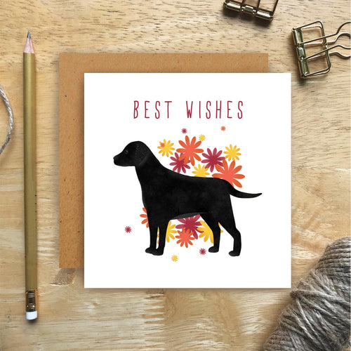 Black Lab Best Wishes Card