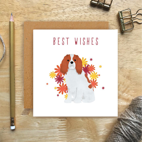 Cavalier King Charles Best Wishes Card