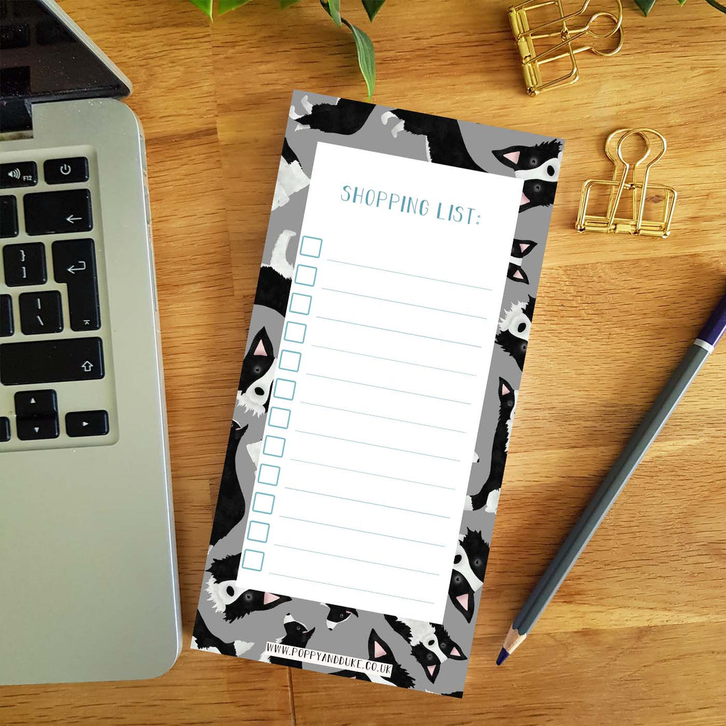 Border Collie Shopping List Pad