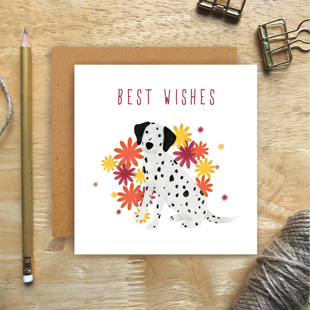 Dalmatian Best Wishes Card