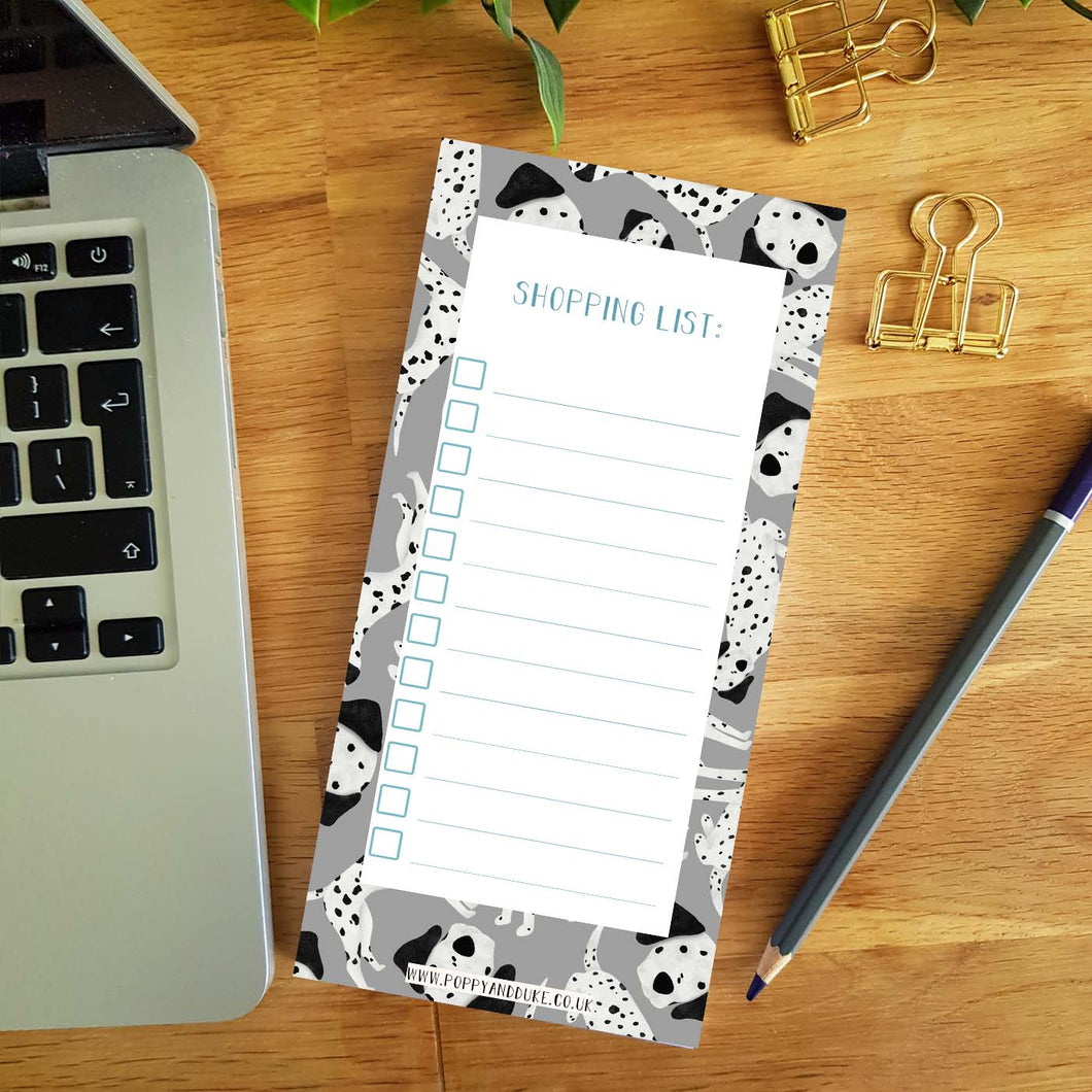 Dalmatian Shopping List Pad