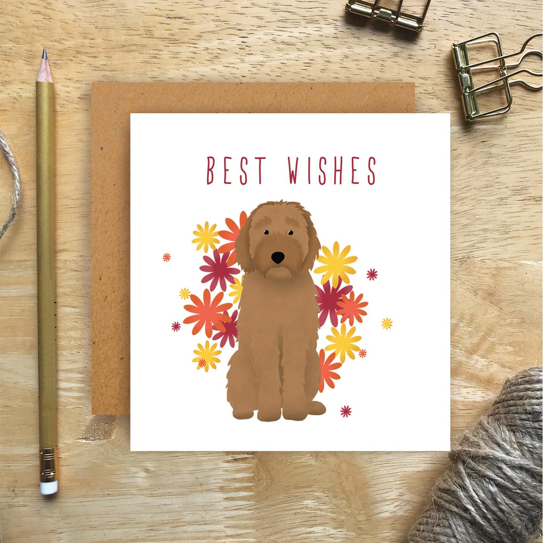 Labradoodle Best Wishes Card