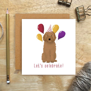 Labradoodle Let's Celebrate Card