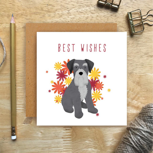 Schnauzer Best Wishes Card