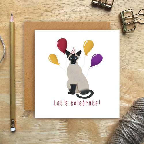Siamese Let's Celebrate Card