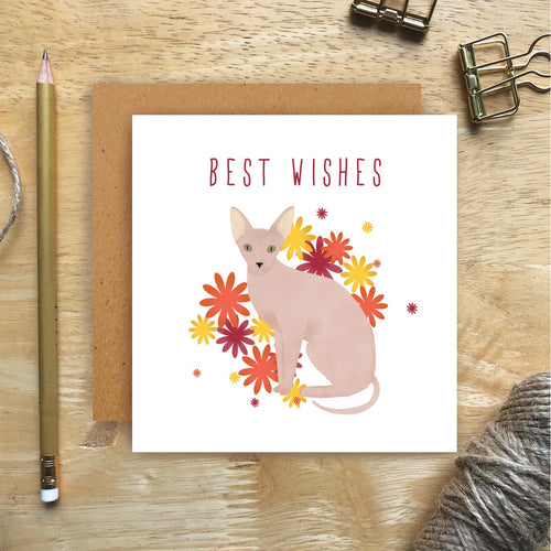 Sphynx Best Wishes Card